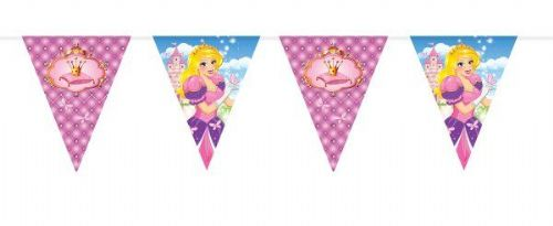 Princess Party Bunting 6mt Beautiful Story Book Royal Regal Hero